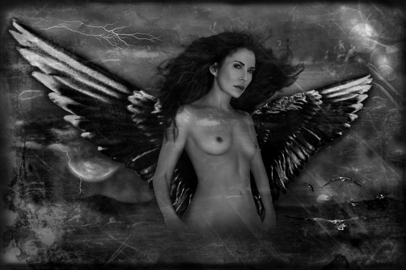 Photographic Surreal Composite Female Nude Fine Art by Doug Heslep