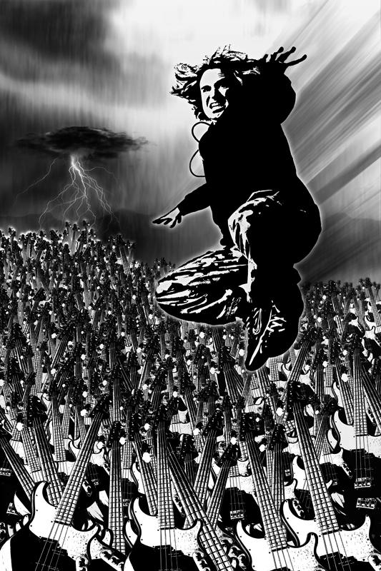 Dave Ellefson of MegaDeth, F5, Temple of Brutality