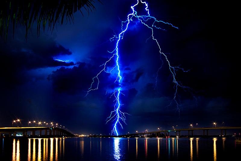 Lightning Blue by Doug Heslep